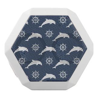 Delfiner på paradmönster vit bluetooth högtalare