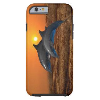 Delfiner på solnedgången tough iPhone 6 fodral