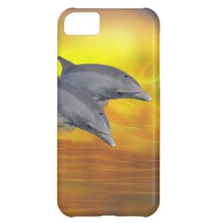 Delfiner som surfar vågar iPhone 5C fodral