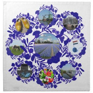 Delft blåttDelftware stil Holland Tygservett