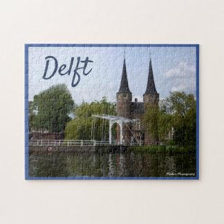 Delft grind (Oostpoort) med text Pussel