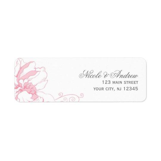 Delikat blom- bröllopadressetiketter returadress etikett