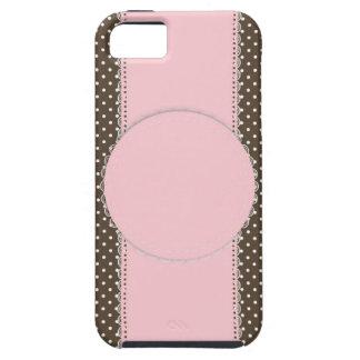Delikat möhippa eller baby Showe för rosa Tough iPhone 5 Fodral
