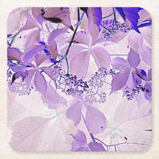Delikat purpurfärgad vine underlägg papper kvadrat