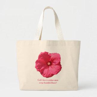 Delikat rosa Hollyhock-Gud kärlek Jumbo Tygkasse