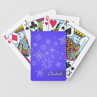 Delikat SnowFlakehimmel Spelkort