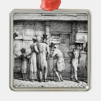 Delpechs shoppar Lithographic tryck, c.1818 Julgransprydnad Metall