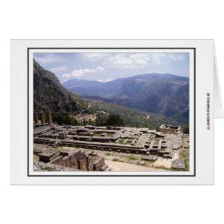 Delphi Archaeological plats Hälsningskort