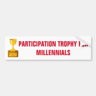 Deltagandetrofé för den Millennials klistermärken