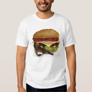Deluxe dubbel Cheeseburger med bacon - T-tröja T Shirts