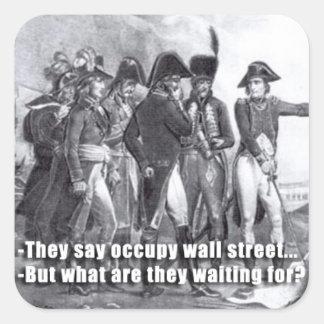 Dem occupy wall street något att säga fyrkantigt klistermärke