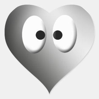 Dem-ögon! - Krom Hjärtformat Klistermärke