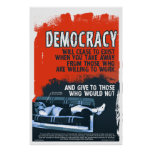 Demokrati ska upphörning (24x36) affischer