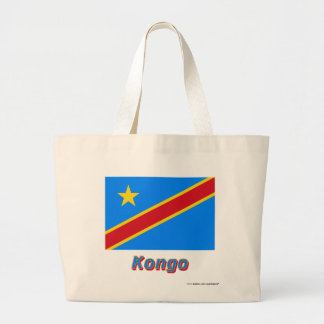 Demokratische Republik KongoFlagge mit Namen Tote Bag