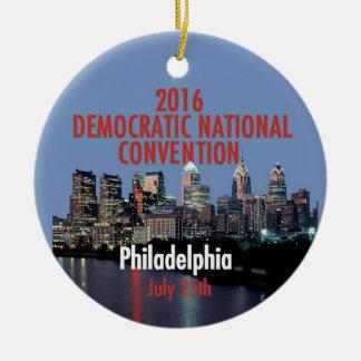 Demokratisk regel julgransprydnad keramik