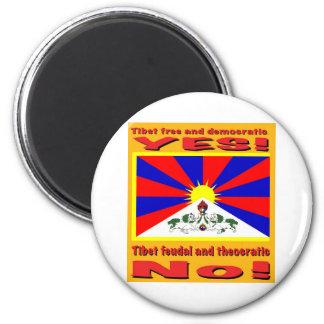 Demokratisk Tibet som är fri och Magnet