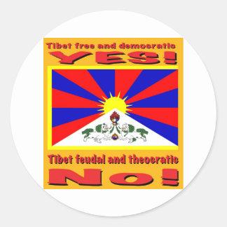 Demokratisk Tibet som är fri och Runt Klistermärke