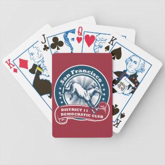 Demokratiska leka kort för San Francisco område 11 Spelkort