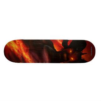 Demonen flammar skateboarden old school skateboard bräda 21,6 cm