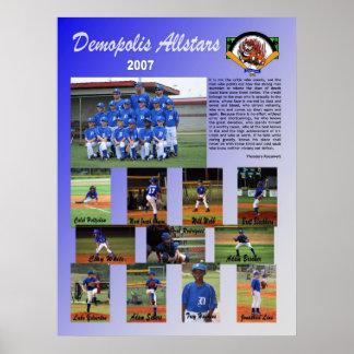 Demopolis 2007 all stjärnaaffisch poster