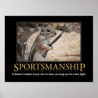 Demotivational affisch: Sportsmanshipekorre Poster