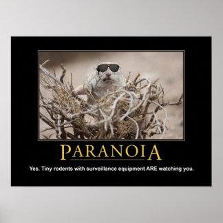 Demotivational ekorreaffisch: Paranoia Poster