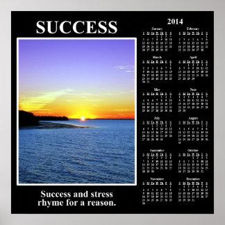 Demotivational kalender 2014 Menande av framgång Affisch