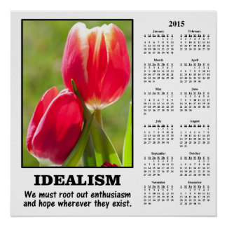 Demotivational kalender 2015: Rota ut idealismen Affischer