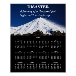 Demotivational kalenderkatastrof 2015 poster