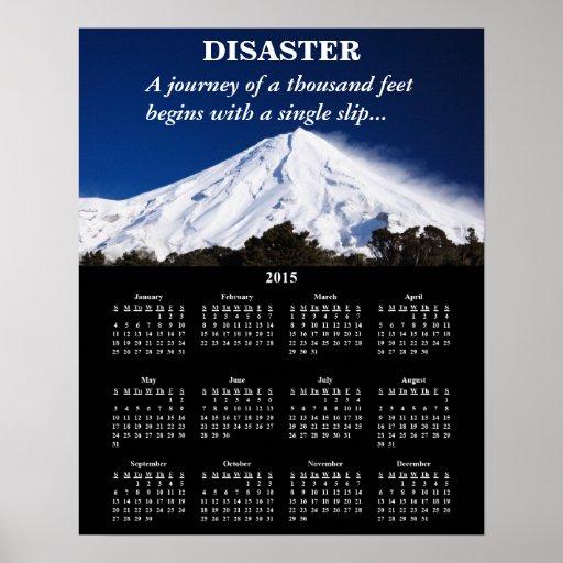 Demotivational kalenderkatastrof 2015 affischer