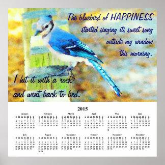 Demotivational kalenderlycka 2015 poster