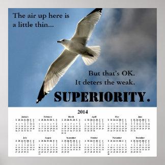 Demotivational kalenderöverlägsenhet 2014 posters