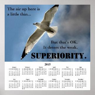 Demotivational kalenderöverlägsenhet 2015 poster