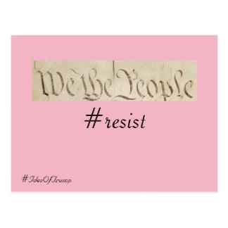 Den 15:e av trumf oss folket motstånd vykort