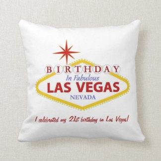 den 21st födelsedagen i Las Vegas kudder PERSONLIG Kudde