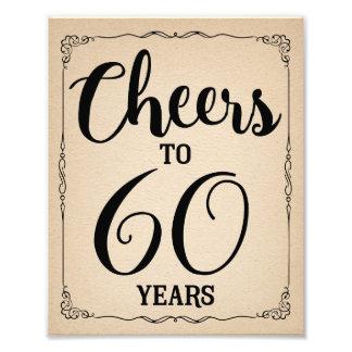 den 60th födelsedagsfesten undertecknar fototryck