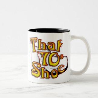 Den 70-tal skor två tonar muggen Två-Tonad mugg