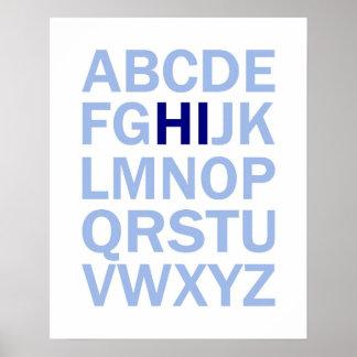 Den ABCS alfabetaffisch något att säga HI Poster