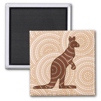 Den Aboriginal kängurun pricker målning Magnet