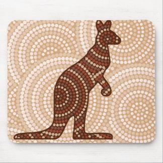 Den Aboriginal kängurun pricker målning Musmatta