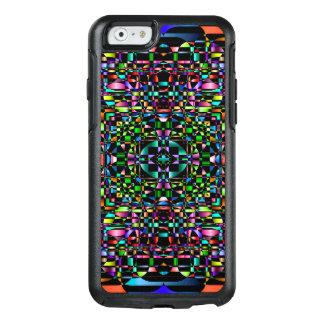 Den abstrakt bakgrundsfärgaden cirklar raster OtterBox iPhone 6/6s skal