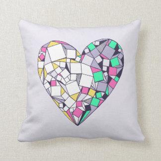 Den abstrakt geometriska hjärtateckningen dämpar kudde