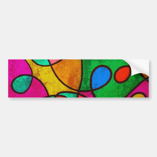 Den abstrakt grafittiregnbågen virvlar runt bildekal