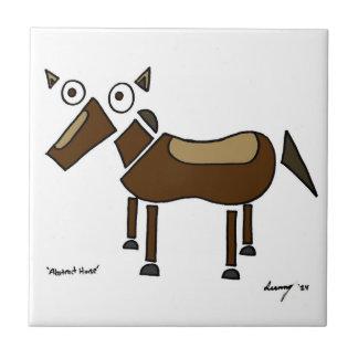Den abstrakt hästen belägger med tegel kakelplatta
