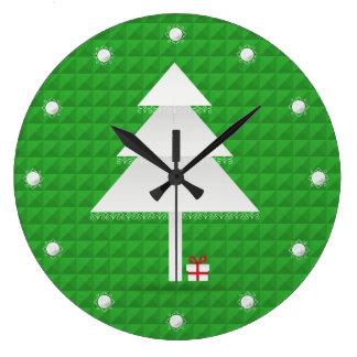 Den abstrakt julgranväggen tar tid på stor klocka