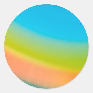 Den abstrakt kristallen reflekterar den halva runt klistermärke