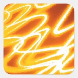 Den abstrakt kristallen reflekterar Dreadlocks Fyrkantigt Klistermärke