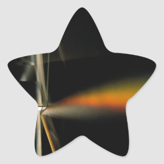 Den abstrakt kristallen reflekterar reflekterar stjärnformat klistermärke