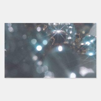Den abstrakt kristallen reflekterar smycken rektangulärt klistermärke