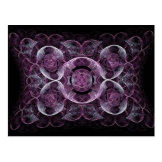Den abstrakt lilan virvlar runt gåvor för vykort